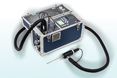 Portable emissions analyzer with heated sample line