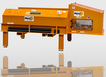 Eddy current non-ferrous metal separator has quick change belt system
