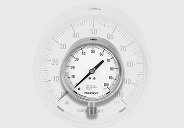 Pressure gauge designed to provide maximum safety