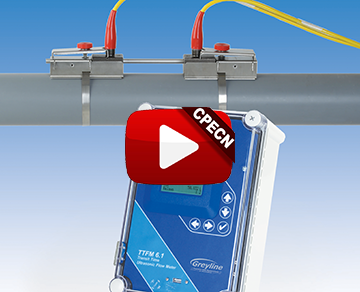 Clamp-on transit-time ultrasonic flow meter avoids pipe penetration