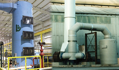 Tray scrubber allows recovery and reuse of acids from emission sources