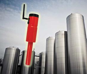 Battery-powered laser sensors for silos