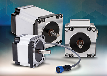 IP65-rated stepping motors for washdown environments