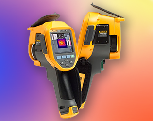 Infrared camera measures heat signatures from -20 to 650C