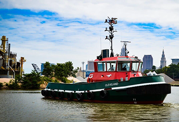 Tugboats in the Great Lakes motor with marine hybrid power and propulsion systems