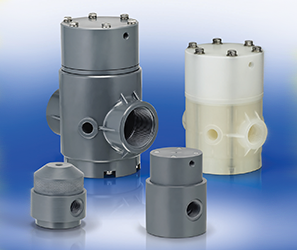 Air operated shut off PTFE diaphragm valves