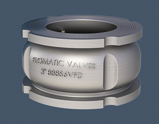 Wafer style silent check valve offers stainless steel construction
