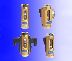 Viscosity-compensating flowmeter and switch