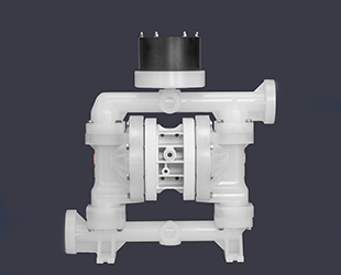 Integrated surge dampeners for AODD pumps