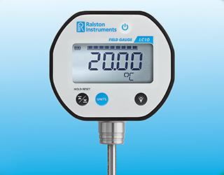 Wide temperature range field gauge thermal probe