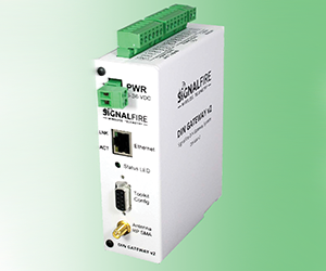 DIN wireless gateway for wireless and wired sensors