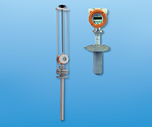 Insertion magnetic inductive flowmeter for conductive liquids