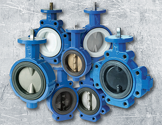 Butterfly valves suitable for manual or automatic actuation