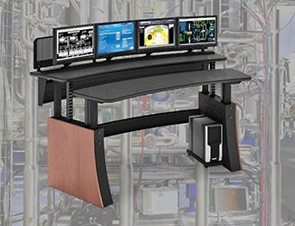 Sit/stand consoles provide relief for operators around individual work areas