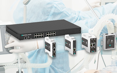 Supporting communication of medical ventilators with serial gateways