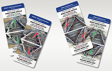 Card guide teaches how to correctly interpret rail switch points