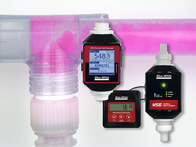 Ultrasonic flow meter measures chemical feed in municipal water & wastewater treatment applications