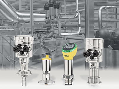Compact level sensors with 80 GHz radar allow for safe measurement